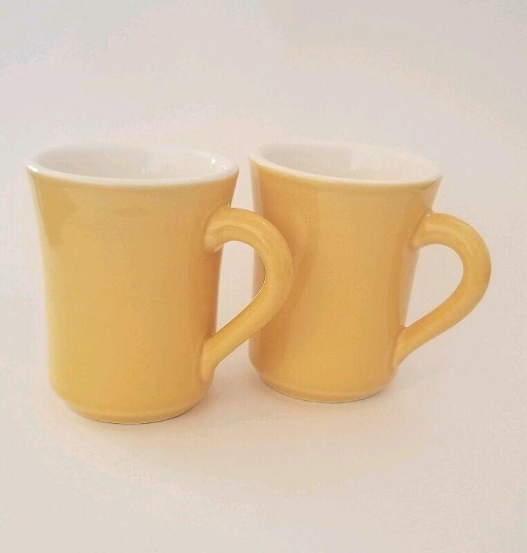 MCM Vintage ALOX - HF COORS Yellow Mugs 8oz USA