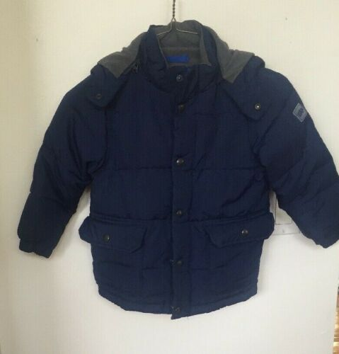 Baby Gap Boys Navy Blue Zip Up Warm Winter Snow Thick Lined Puffer Coat Size 4
