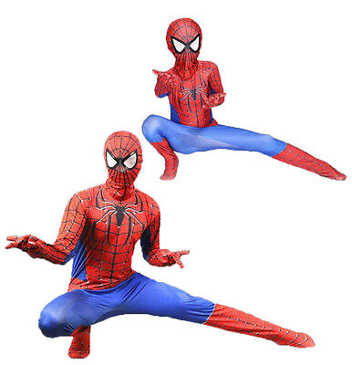 Cosplay Jumpsuit Amazing Spiderman Costume Tights Suit for Adult or Kids - Amazing Adult Costumes