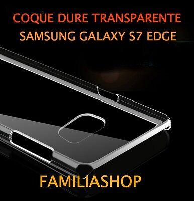 Funda con Tapa Cristal Dura Rígido Transparente Samsung Galaxy S7 Edge