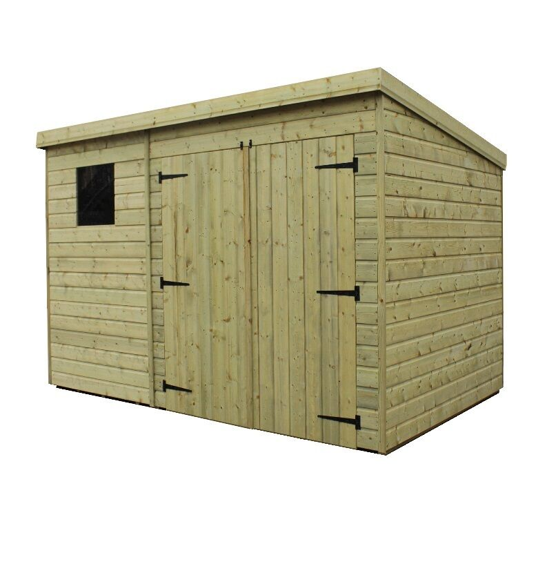 Wooden garden shed 10x7 12x7 14x7 pressure treated tongue for Garden shed 7 x 3