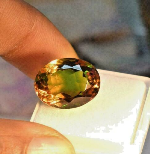 12.10 Ct Oval Cut Natural Alexandrite Multi Color Changing stone CGI certified