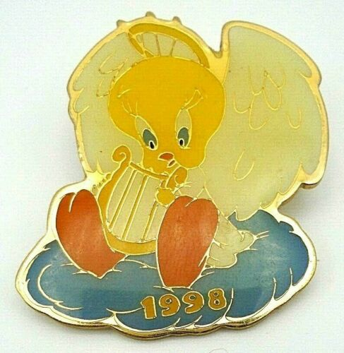 Tweety Bird Christmas ANGEL Harp Warner Brothers WB Cartoon Comic Pin