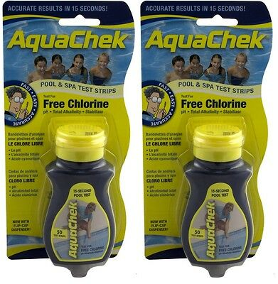Aquachek Yellow Pool 50pk Spa Test Strips 2 bottles - Aquachek Spa Pool