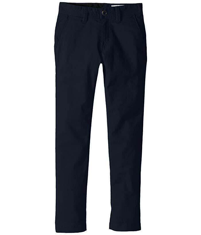 Boy's Volcom Modern Stretch Chinos, Size 26 - Blue