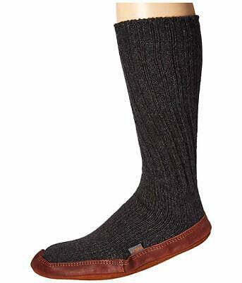 Acorn Unisex Black Slipper Sock Charcoal Ragg Wool 10512 Size XL