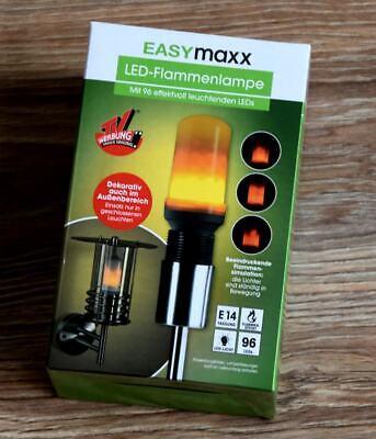 LED GLÜHLAMPE E14 LAMPE FLAMMENEFFEKT LICHT GLÜHBIRNE LAMPE von EASYMAXX NEU *, gebraucht gebraucht kaufen  Deutschland