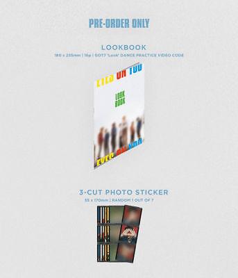 GOT7 [EYES ON YOU] 8th Mini Album Pre-Order Item. Look Book+3-Cut Photo Sticker