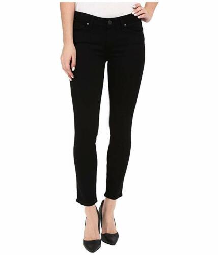 Paige Womens Jean Verdugo Crop Black Overdye Skinny Jeans 1948521 051