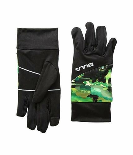 Bula 6317 Kids Black Green Print Stretch Gloves Size Small