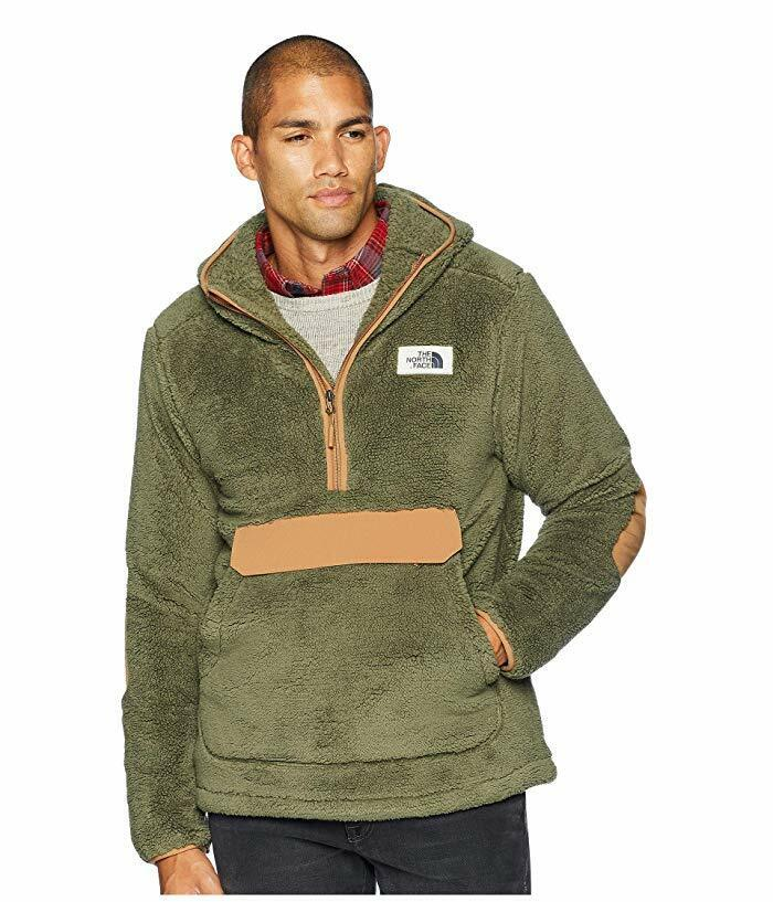 New Mens The North Face Pullover Campshire Sherpa Fleece Hoo