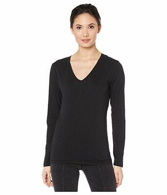 Majestic Filatures Hand Dyed L/S Tee, Women's Size 2 (US Size 4-6), Black NEW