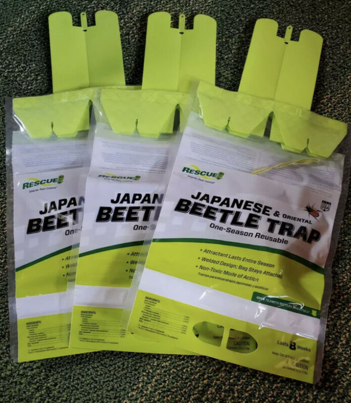 NEW RESCUE! Reusable Japanese/Oriental Beetle Trap (3 PACK)