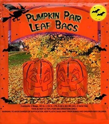 Pumpkin Pair Leaf Bags Halloween Lawn Decoration Party Huge Big Large Fall - Big Halloween Bags