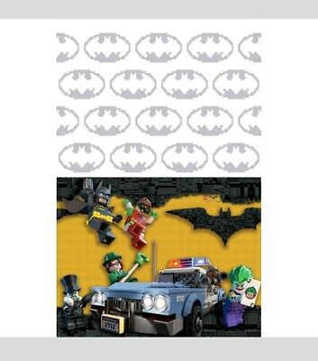 Lego Batman Tablecover 54 x 96 Border Print  Plastic Birthday Party Supply](Lego Batman Party Supplies)