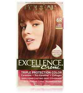L'Oreal Excellence Creme - 6R Light Auburn (Warmer) 1 Each