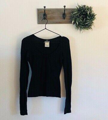 Versus Versace Black Long Sleeve Blouse 8 / 38