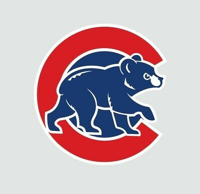 Chicago Cubs Cub MLB Baseball Full Color Logo Sports Decal Sticker-Free Shipping - Baseball Stickers
