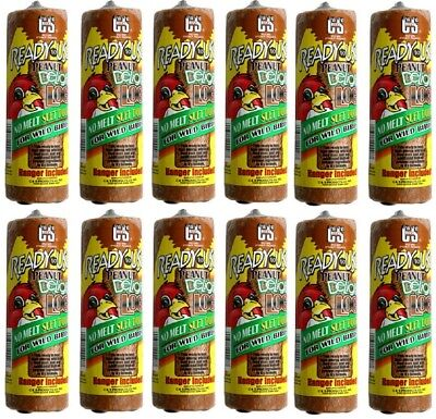 (12) ea C & S Products # 08907 16oz  Ready To Use Wild Bird Food Peanut Log