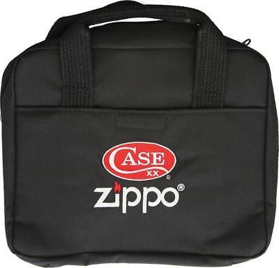 Case Cutlery XX Zippo Logo Black Zipped Knife & Lighter Stor