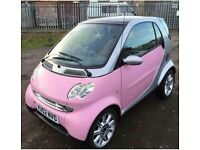 52 plate Fortwo Pink Smart Car