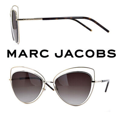 $349 Marc Jacobs Gold Cat-Eye Brown Gradient Sunglasses 8/S APQHA 56-21-140