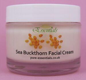 Sea Buckthorn Face Cream. Natural Skin Rejuvenation & Collagen Booster, Eczma