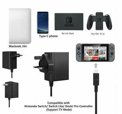 Fast Charging Charger Power Supply AC Adapter Type C For Nintendo Switch...
