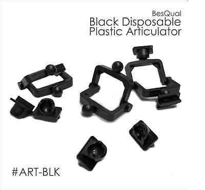 Dental Meta Lab Disposable Plastic Articulator Black - 100 Pcs Art-blk