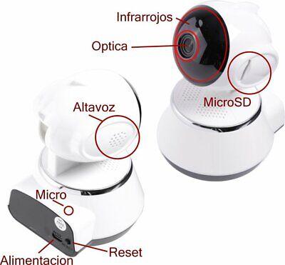 Camara IP WiFi P2P HD con Visión Nocturna con Detección de movimientos...