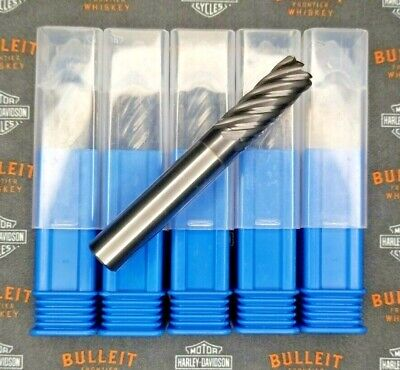 716 Lot 5 - Carbide End Mill 7 Flute Tialn High Performance .020 Radius Endmill