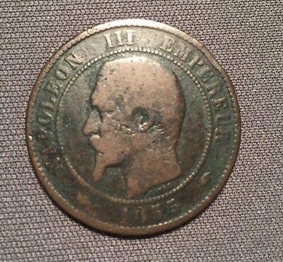 Dix Centimes, 1855, A (Paris) Napoleon III , 3. Empire Francais