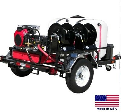 Pressure Washer Commercial - Trailer Mounted - 8 Gpm 3000 Psi - 20 Hp Honda