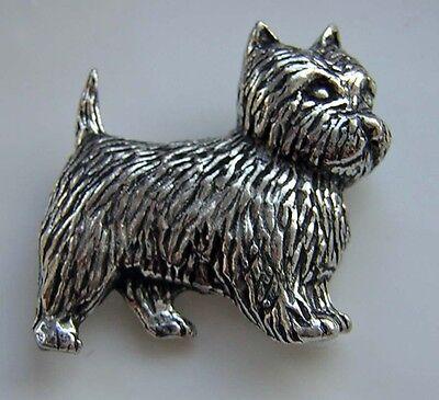 Highland Terrier  Scottie dog  pewter pin badge