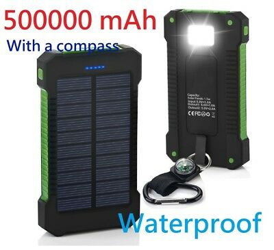 Waterproof 500000mAh Dual USB Vest-pocket Solar Battery Charger Solar Power Bank G