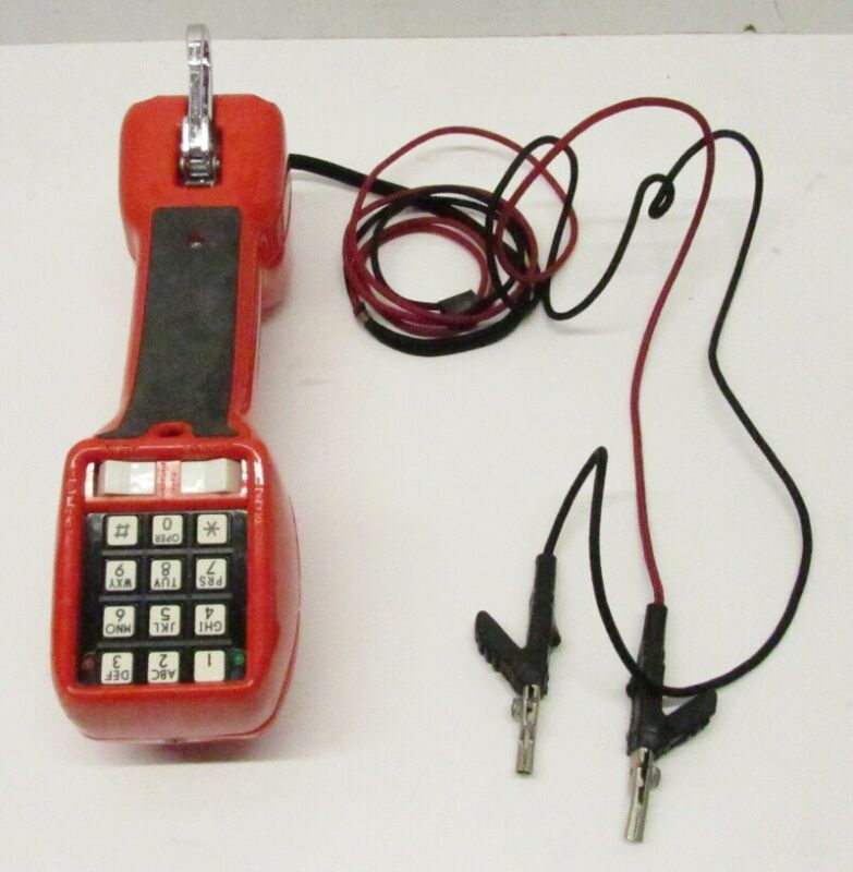 Harris-Dracon Division TS21 Test Set Lineman Red Handset