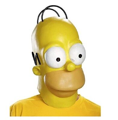 Disguise Homer Simpson Latex Costume Mask Larger Teen Adult - Homer Simpson Mask