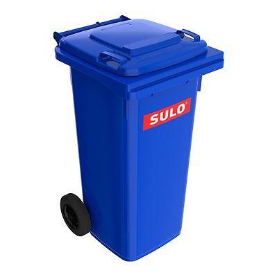 Müllgroßbehälter, Großmüllbehälter, Mülleimer, Müllbox blau, 120 L NEUWARE. (Große Küche Mülleimer)