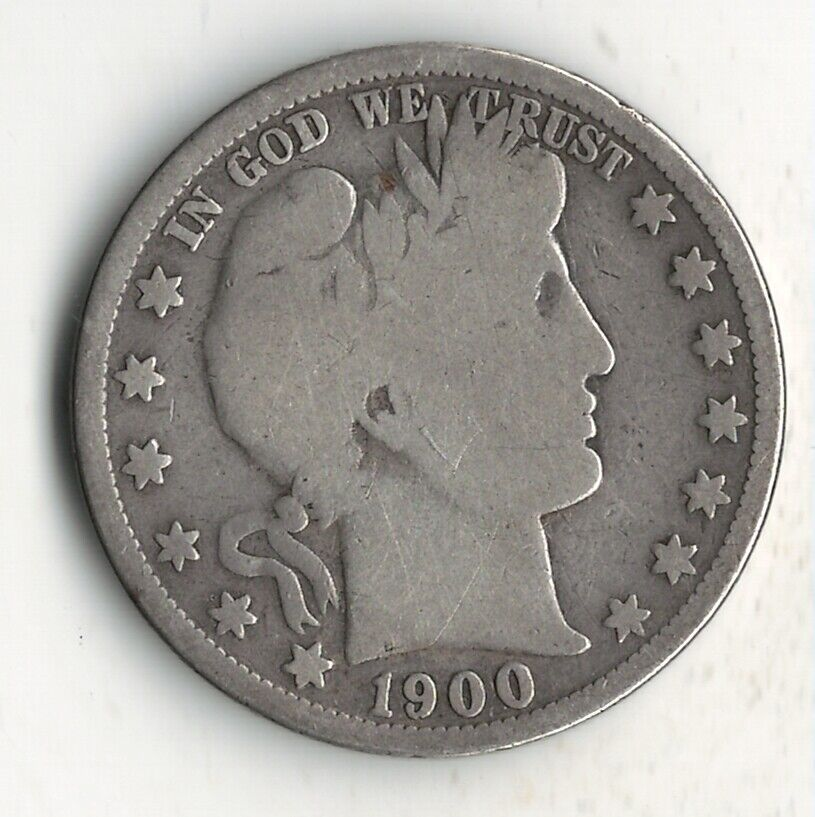 1900 S BARBER HALF DOLLAR - $19.95