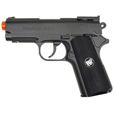 550 FPS WG AIRSOFT METAL COMPACT M1911 CO2 GAS HAND GUN PISTOL w/ 6mm BB BBs