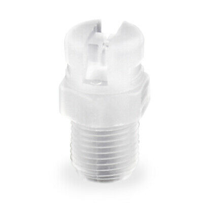 100 Pack Tefen White Flat Fan Spray Nozzle W/Poly Filter 1/8