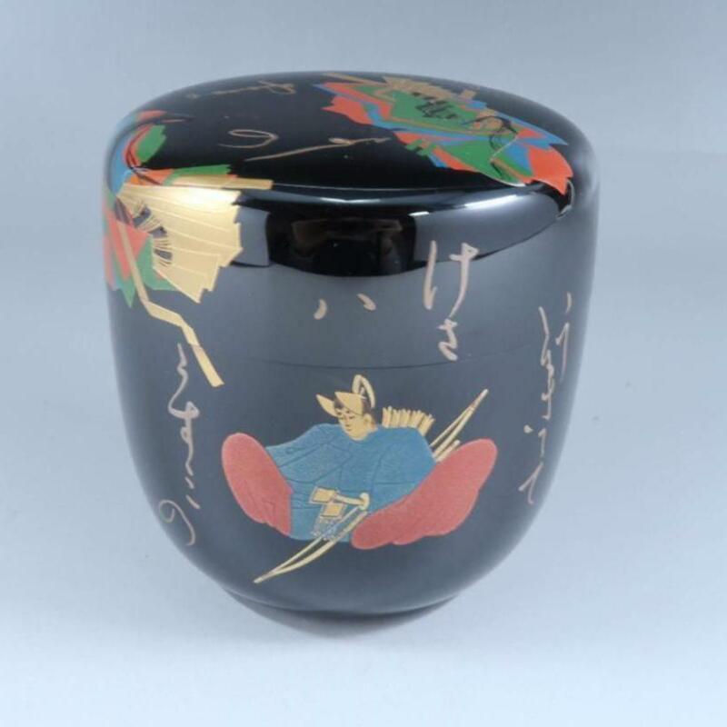 Tea Caddy Ceremony Natsume Makie Sado Japanese Traditional Craft a099