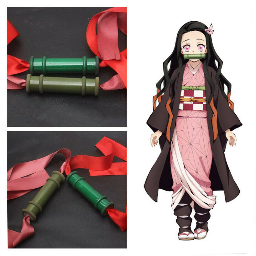 Demon Slayer Kimetsu No Yaiba Kamado Nezuko Bamboo Pipe Cos Prop Cosplay Anime