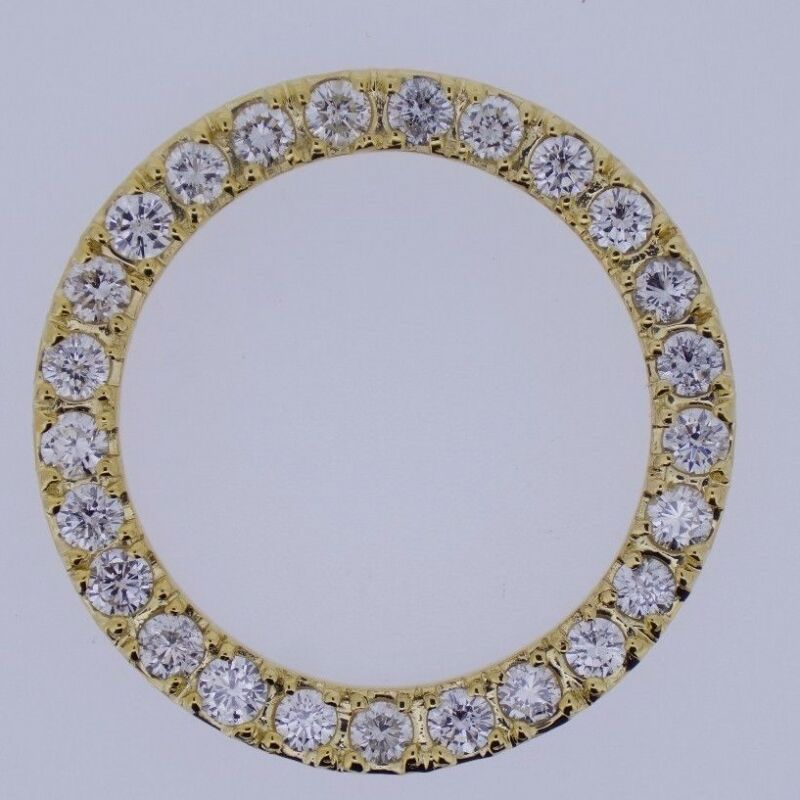 5.50Ct Huge Gold Diamond Bezel for DayDate President 36mm & DateJust Rolex Watch