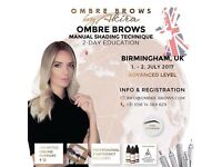 Microblading ombré brows training