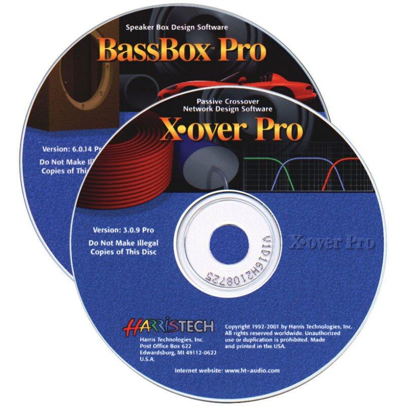 BassBox 6 Pro/X-Over 3 Pro Software Set CD-ROM