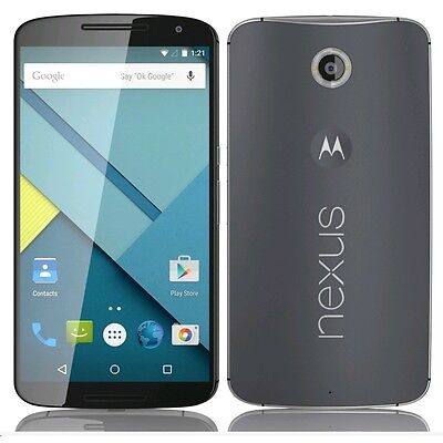 Nexus 6 XT1103 32GB 4G LTE GSM Blue Unlocked Smartphone Shadow Image on LCD