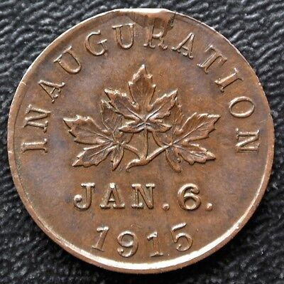 CHAMBLY QUEBEC MANUFACTURERS INAUGURATION TOKEN - Jan. 6. 1915