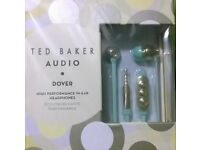 Ted Baker Dover In-Ear Headphones In Mint/Gold