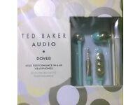 Ted Baker Dover In-Ear Headphones In Mint/Gold